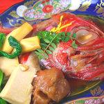 京橋 二刀流 - 料理写真:金目鯛の煮付けです。すっごく新鮮なので、身がしっとり、ふわふわです!!