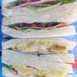 RORO - 「サツマイモとリンゴとハムのサンド」「ハムと野菜のサンド」