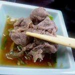 難波亭本店 - しゃぶしゃぶ肉はポン酢をつけて