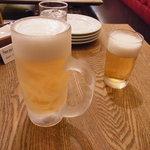 CAFE RIGOLETTO - ビールはジョッキもキンキンです