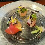 ラトリエ ドゥ ステイジュ - 料理写真:相模湾の魚のカルパッチョ