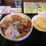 かけらーめん 一番館 - 焼肉モリ丼(こく旨黒)430円