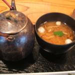 おひつ膳 田んぼ - 味噌汁・玄米茶
