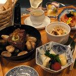 茶房 わらび野 - 夜のコース料理