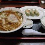 麺家なりた - ラーメン・餃子・ライスセット