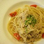 TRATTORIA Ca del TOMO - スパゲッティーニ 鶏むね肉とレバーのソース