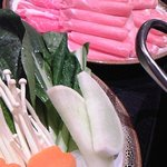 小尾羊 - 牛と野菜