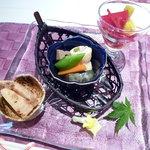 アンクィール - 2100円和がメインの和洋折衷ランチ:1つ目の前菜