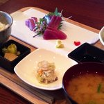 方寸MURATA - カツオ刺身と鯛飯ランチ