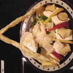 7564739 - 豆腐と揚げ湯葉のとろろサラダ