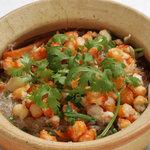 サイゴン・レストラン - 蟹と春雨炒め・Miến xào cua