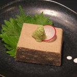 二重まる - 手作り濃厚胡麻豆腐(380円)