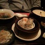 香港茶廊 - お粥のついたセット