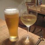 アレジア - 生ビール(キリン一番搾り)&ラ・ヴィエイユ・フェルムブラン07