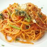 SCACCOMATTO - パンチェッタと菜の花のトマトソース