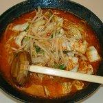 たけいし - スーパー黄河 580円 麺2玉入り ミソ味超辛い