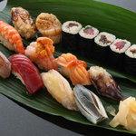 や寿し - 料理写真:寿司コース(赤酢シャリ砂糖不使用)