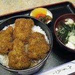 藤屋食堂 - ソースかつ丼(800円)