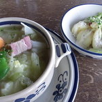 日野水牧場 ファームハウス - 野菜スープとサラダ