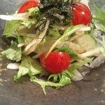 日本料理 正 - お口直しのサラダ