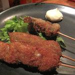 soft - 鶏と豚シソ巻きとオクラ。揚げたては美味しいですね~。