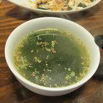 みっちゃん総本店 - スタミナわかめスープ