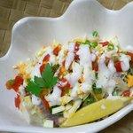 南太平洋 - ポワソンクルー(タヒチの魚介サラダ)