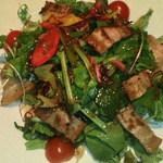 月の庭 - 豚肉とホウレン草のさっぱりサラダ