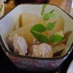 ホッと こめや - ランチの煮物(大根・ふき・鶏肉)