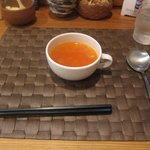 グリル末松 - 最初にスープが出てきます