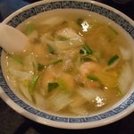 天慎飯店 - 蝦仁湯麺(海老ラーメン)