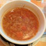 ピッツェリアマリノ - ランチのスープ
