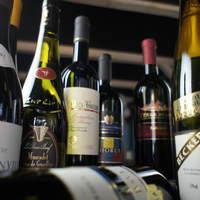 シニアソムリエ厳選のワインを多数ご用意しております。