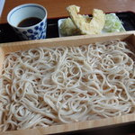 寿々喜そば屋 - 板そば 天ぷら付き 750円
