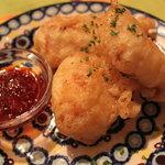 キラキラカフェ とねりこ - 夜メニュー 白身魚のフリット ~ピリ辛ソース~
