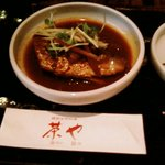茶や - 前菜のサバ味噌煮