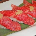 千壽 - 霜降り肉のにぎり寿司