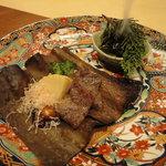 赤坂 丈太郎 - 牛肉の昆布味噌焼き