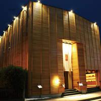 元祖博多めんたい重 - 西中洲 木箱のような外観