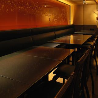 18名様用 完全個室・最大26名様までのテーブル個室もあり