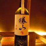 士心 サムライカフェ&バー - 伊達家所縁の日本酒。勝山縁です。他にも日本酒あります。