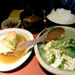 和風料亭乃味 唐観月 - 家内が選んだのは、肴の煮付けと豆腐の定食¥780円