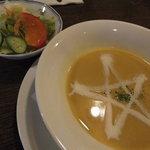 紅屋 - 「ハンバーグランチ」(980円)~「サラダ&スープ」