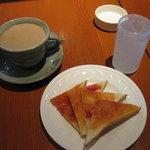 珈琲 ふう - シンプルで美しいトースト