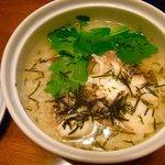 割烹 利助 - 〆は鯛茶。もちろん天鯛。