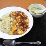 俵屋 - マーチャン丼とスープ