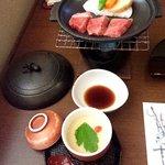 ささ亭 - 陶板焼、茶碗蒸し