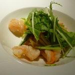 8215416 - 海老と水菜とフレッシュトマトのスパゲッティーニ