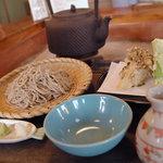 田中屋 - 舞茸天田舎蕎麦