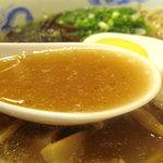 そば処まさや - 若鶏の足の関節部分のみを3時間煮込んだスープだそうです。